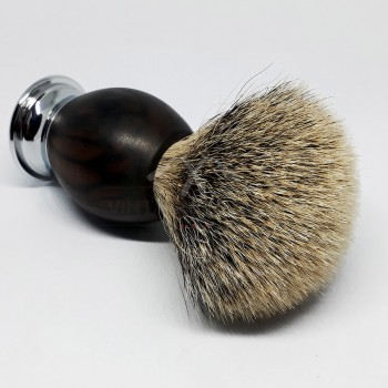 Ebony wood handle shaving brush